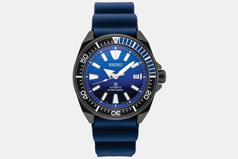 Seiko Prospex Special-Edition Diver With Blue Silicone Strap