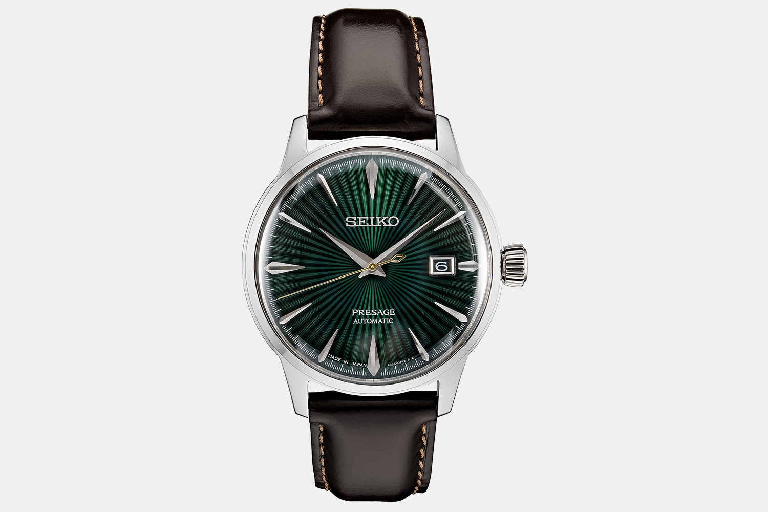 Presage Dress Watch With Brown Leather Strap