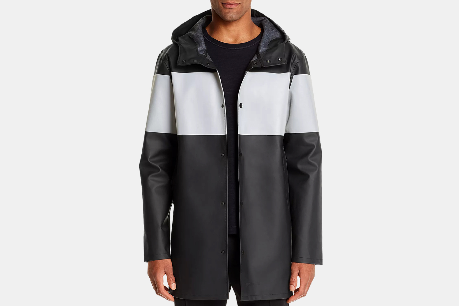 Stutterheim Men's Stockholm Reflective-Stripe Rain Jacket