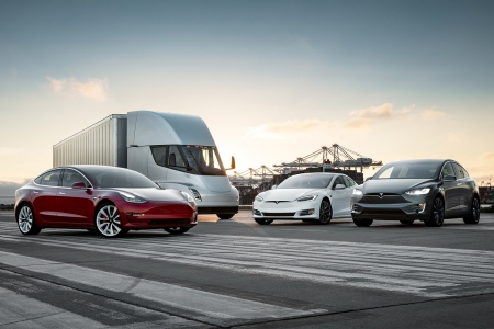 Elon Musk's Tesla family of electric vehicles
