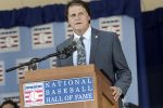 Inductee Tony La Russa gives his speech at the Hall of Fame. (Heather Ainsworth/MLB via Getty)