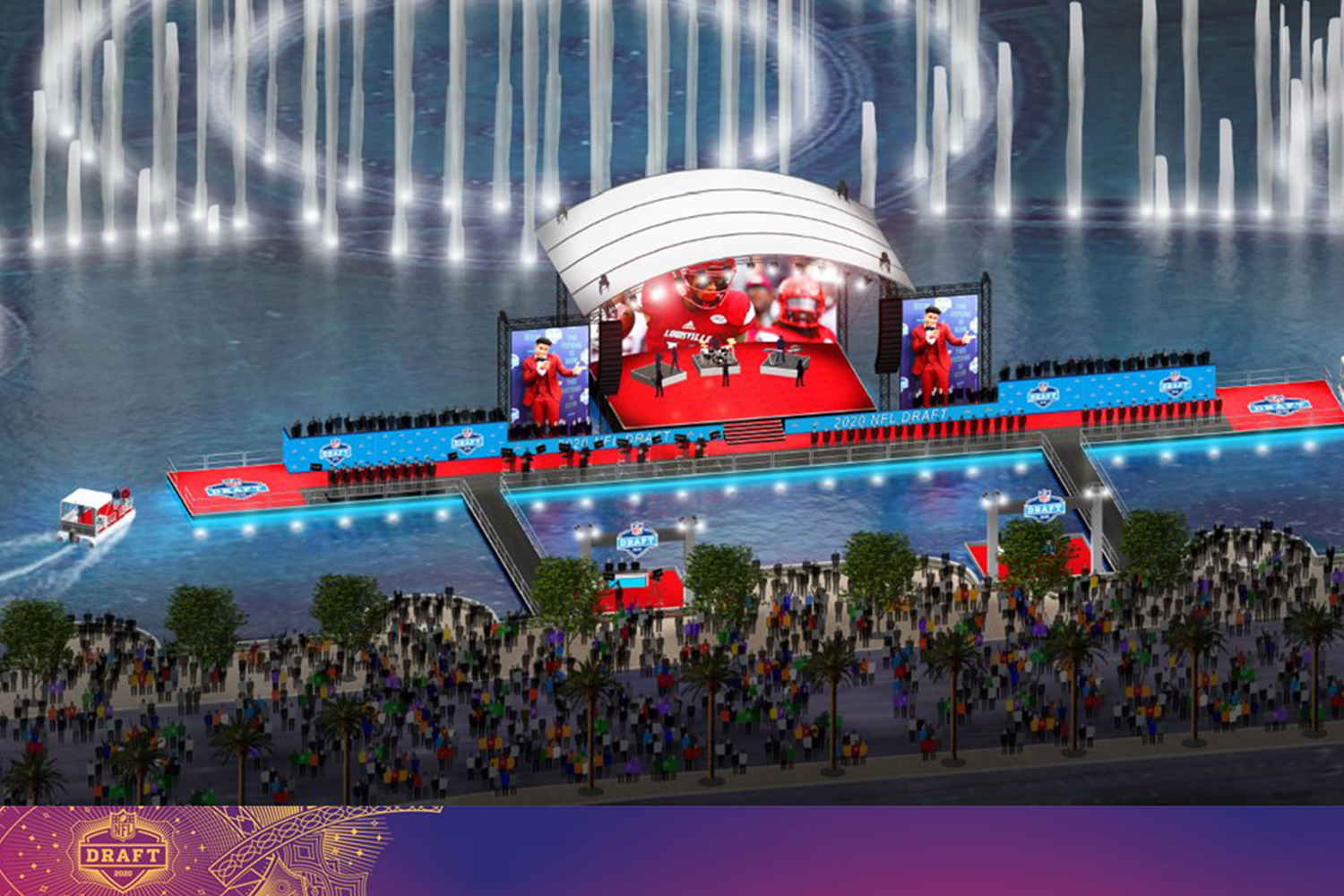 NFL Draft to Feature Floating Stage on Bellagio Fountain