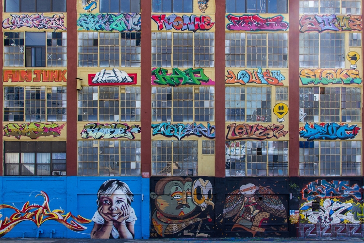 5Pointz New York City mural site in 2011