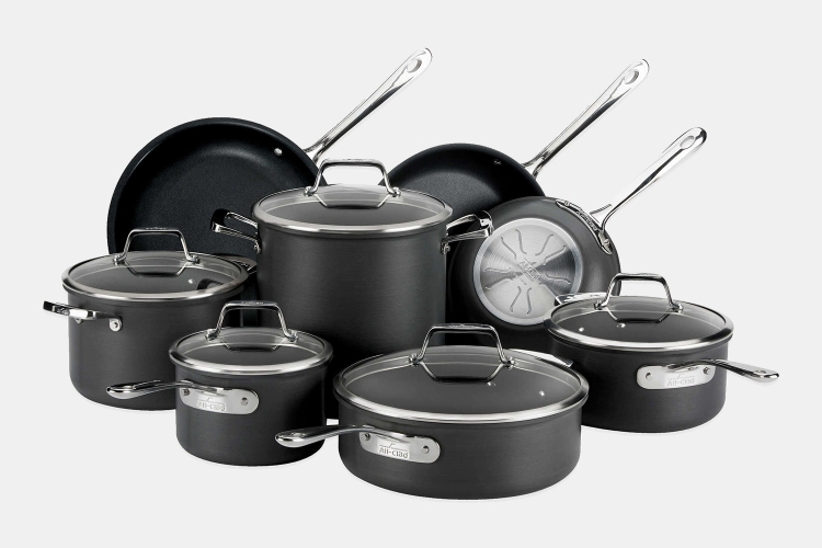 All-Clad 13-piece nonstick cookware set