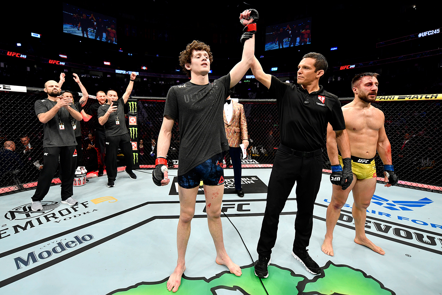 UFC fighter Chase Hooper in the Octagon