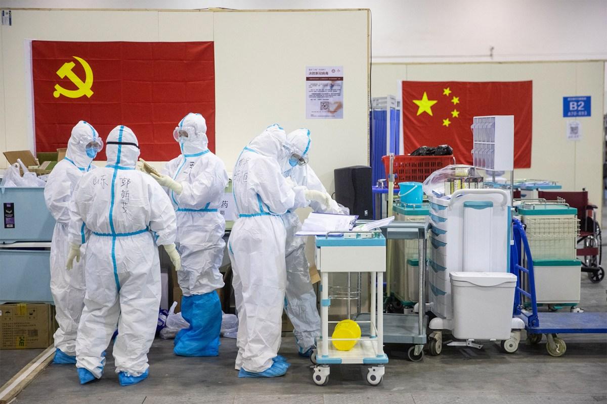 Coronavirus converted hospital in Wuhan, China