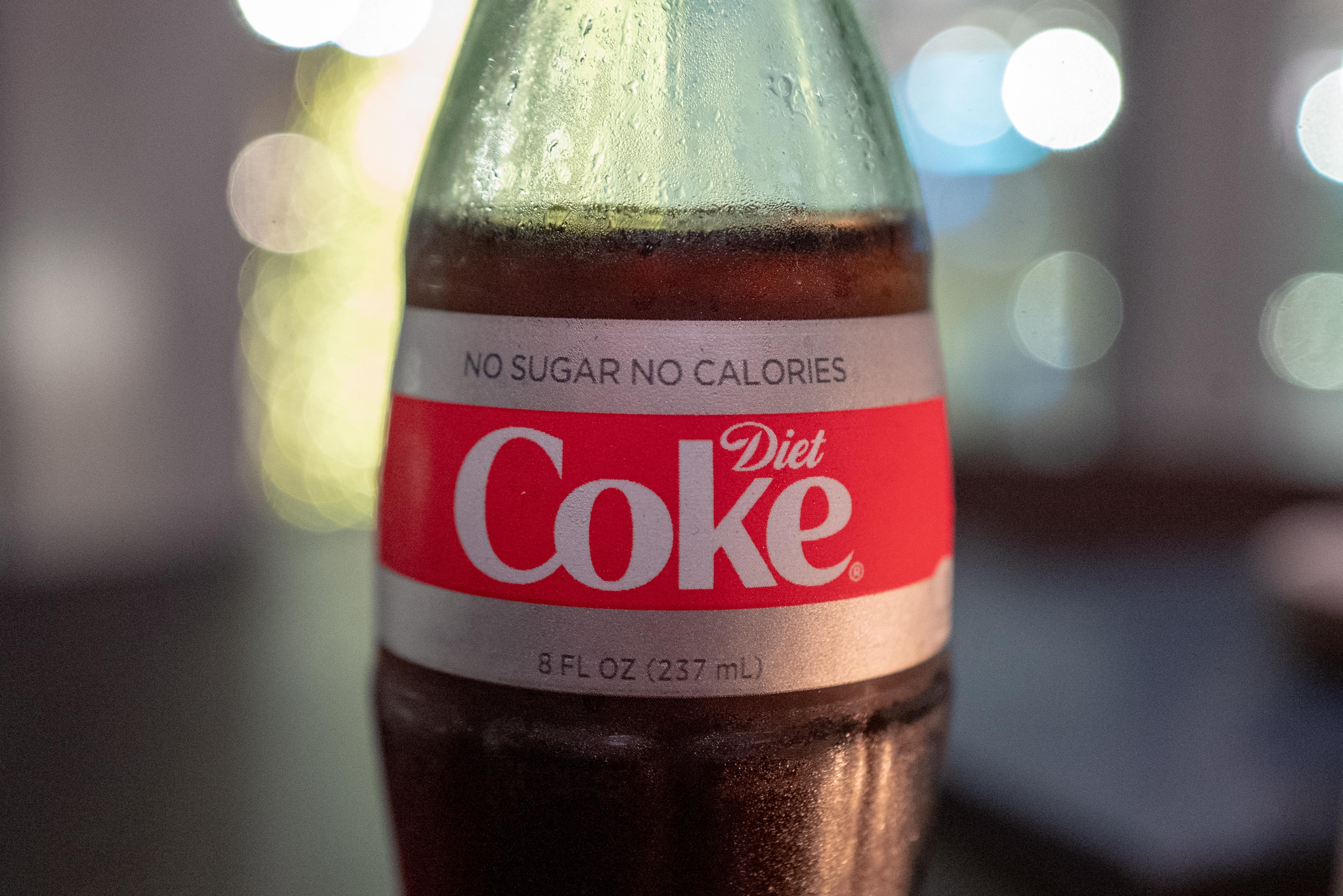 2018 DIET COKE NEW DESIGN NO SUGAR NO CALORIES 8 OUNCE GLASS DIET COKE BOTTLE