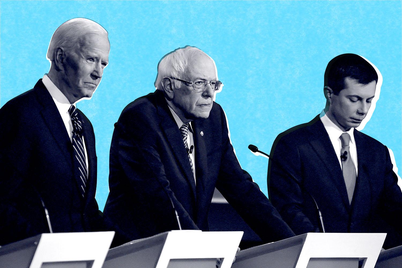 democratic debates mens suits