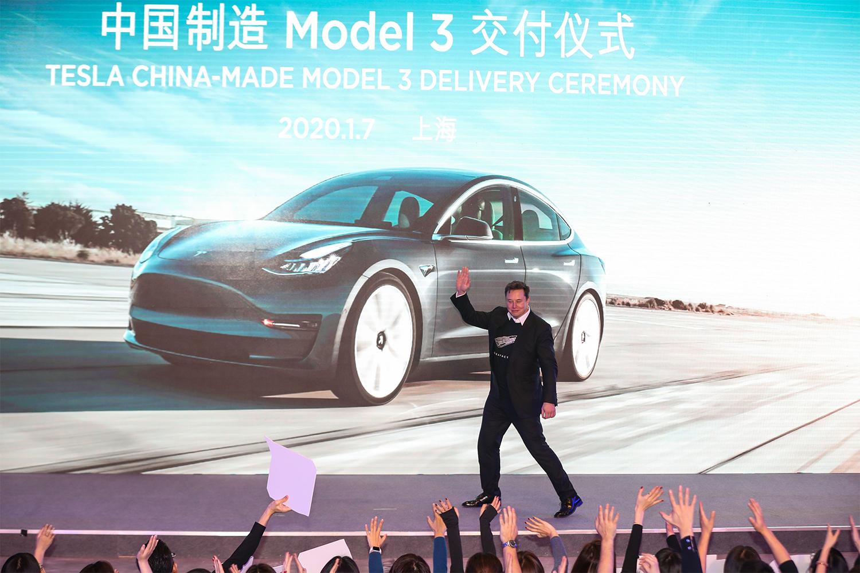 Elon Musk at Tesla Shanghai Factory