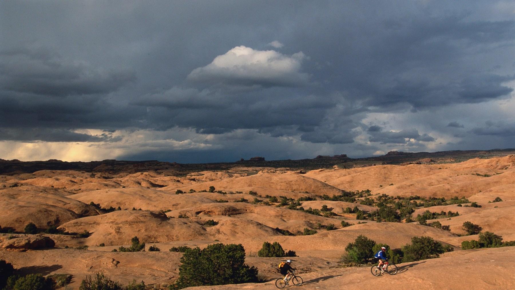 Bikers riding Slickrock Trail