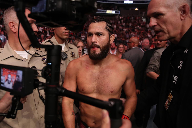 Jorge Masvidal after he knocked out Ben Askren