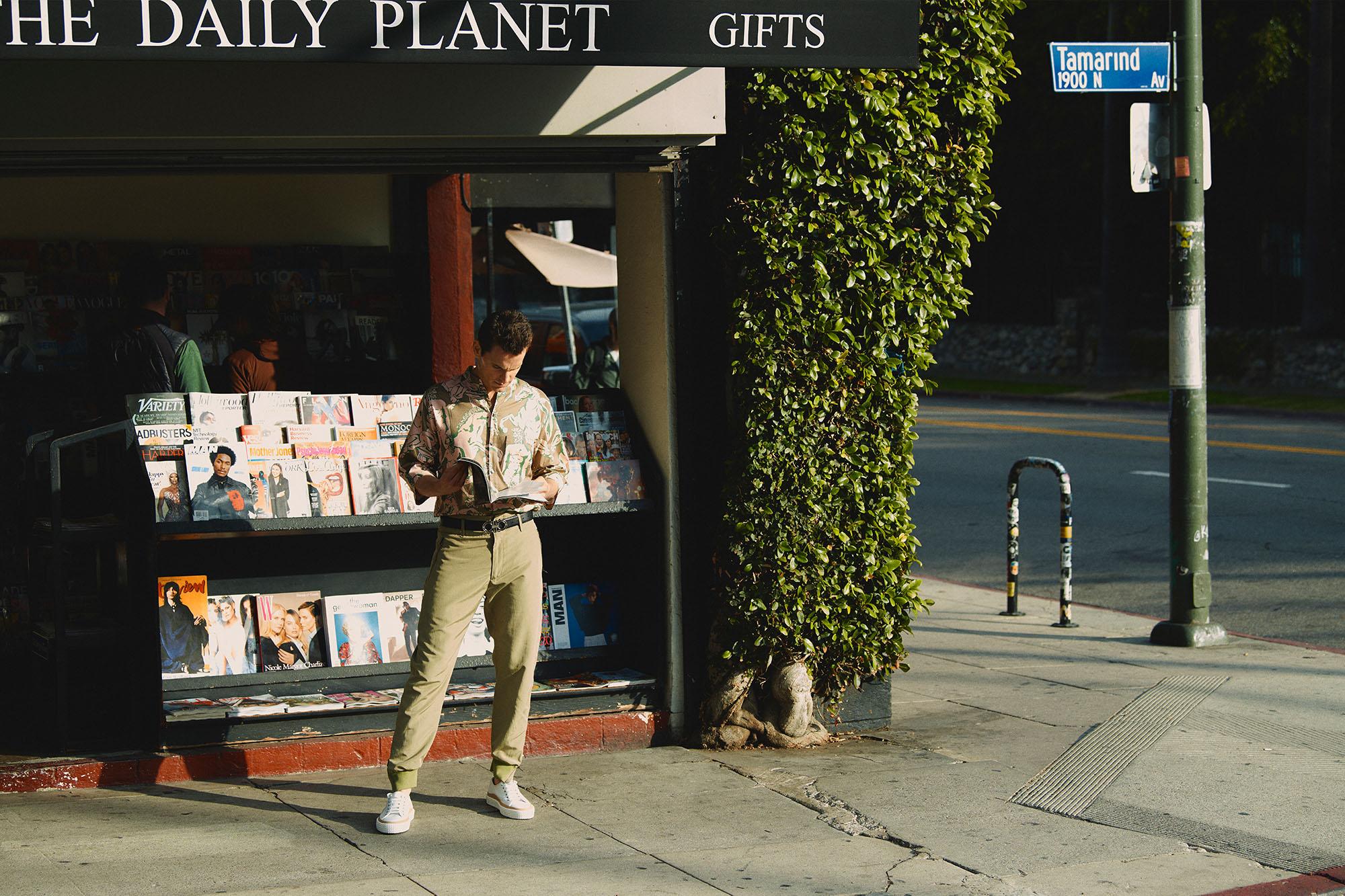 Matt Bomer Los Angeles Neiman Marcus Menswear Salvatore Ferragamo Franklin Strip Daily Planet