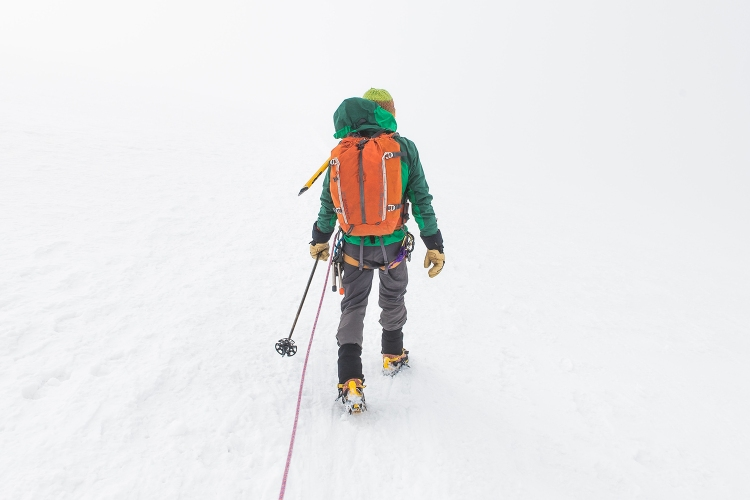 Mountain Climber in the Snow