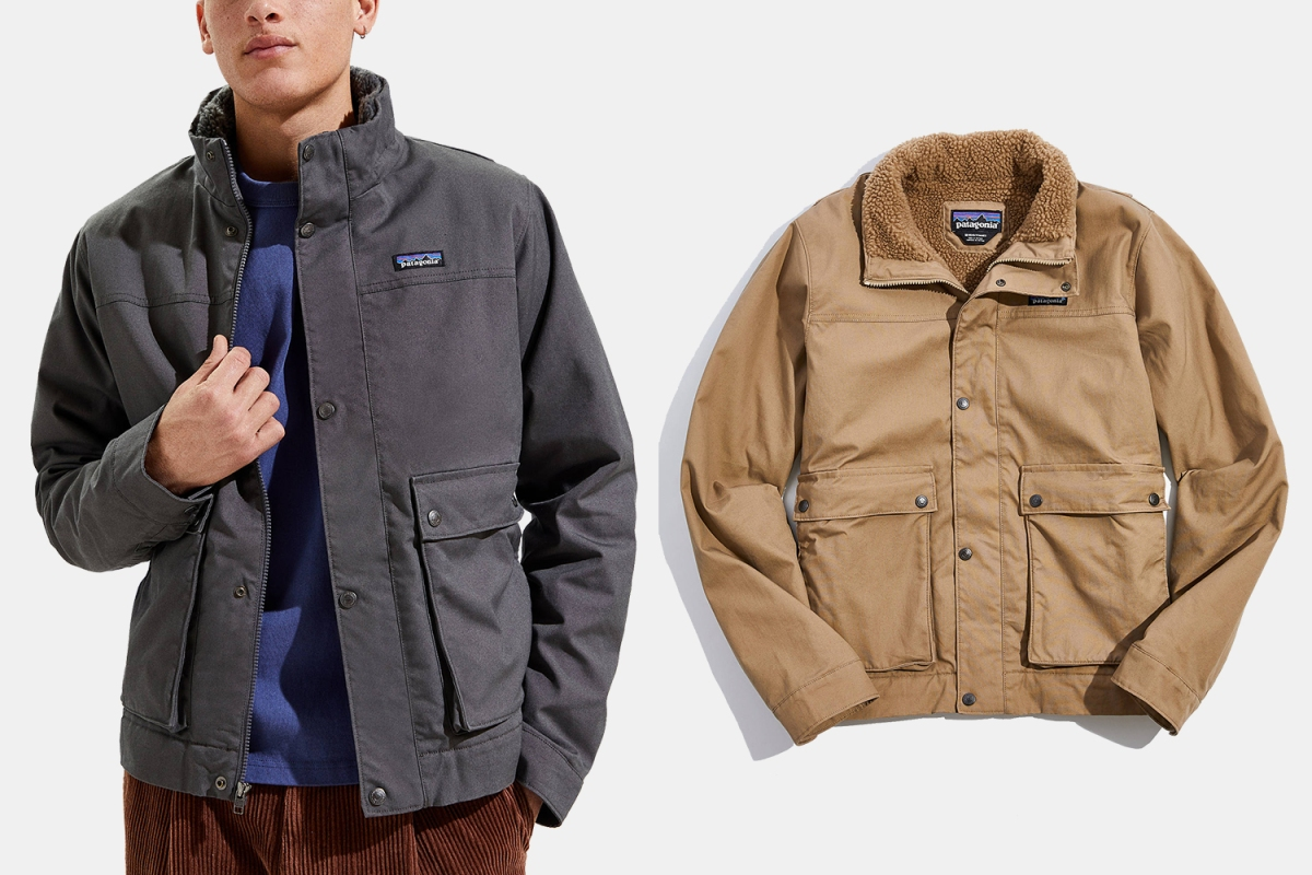 man in a canvas jacket