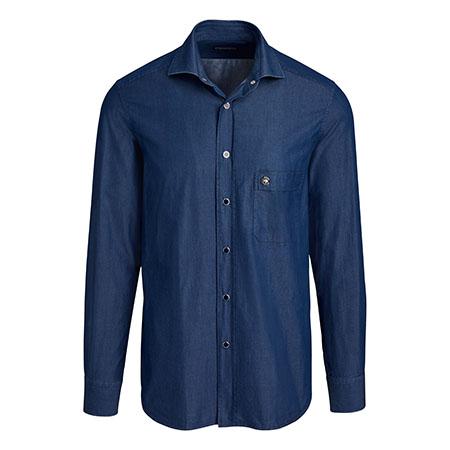 Denim Dress Shirt Stefano Ricci