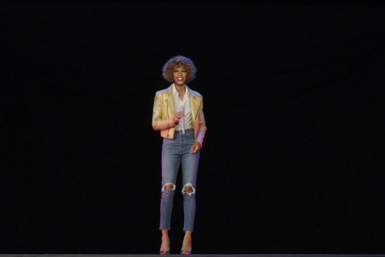 The Whitney Houston hologram, courtesy of Base Hologram.