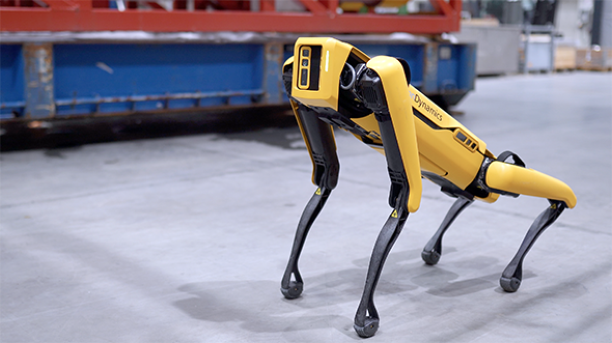 Boston Dynamics robot dog is headed to an oil rig in the Norwegian Sea. (Aker BP)