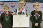 Heaven Fitch became the first female to win an individual state wrestling championship in North Carolina. (North Carolina High School Athletic Association)