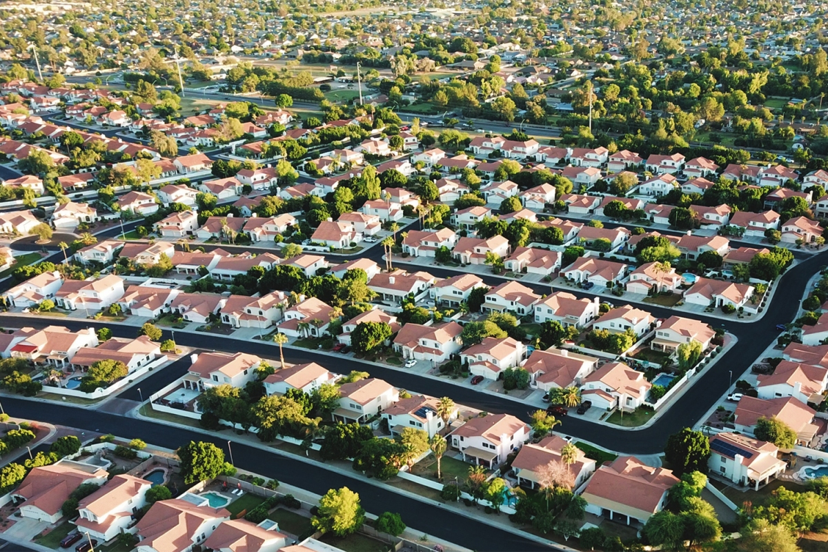 Arizona suburb aerial photo