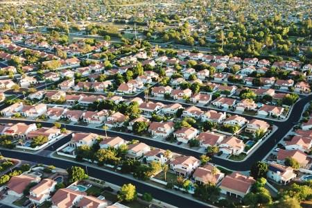 Arizona suburb aerial photo