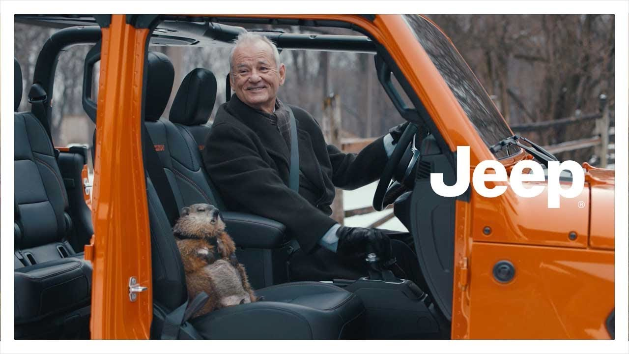 Bill Murray in a Jeep