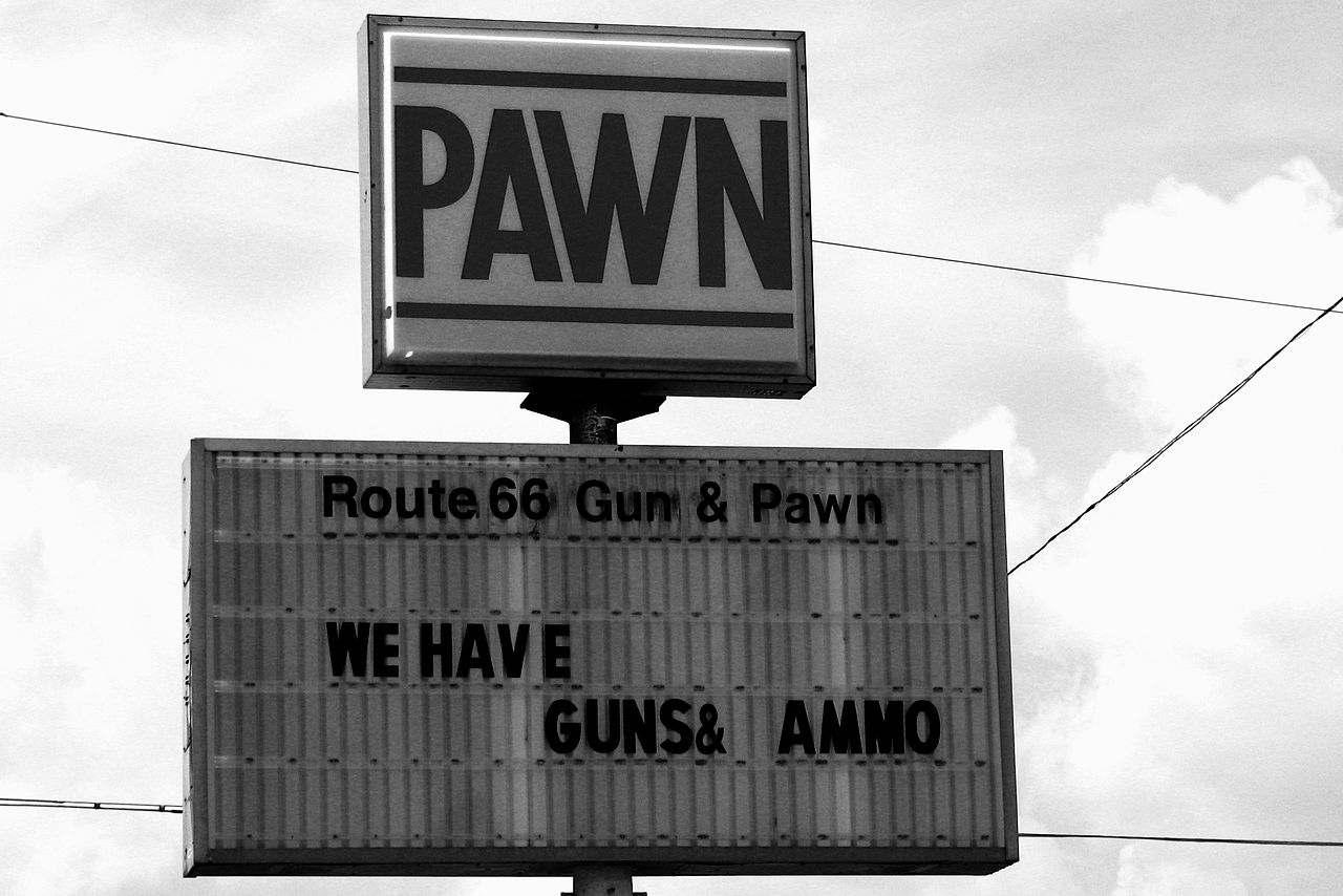 Pawn shop sign