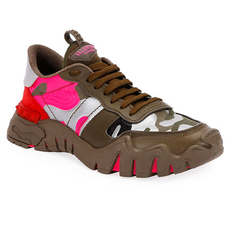 Rockrunner Plus Camo Sneakers Valentino