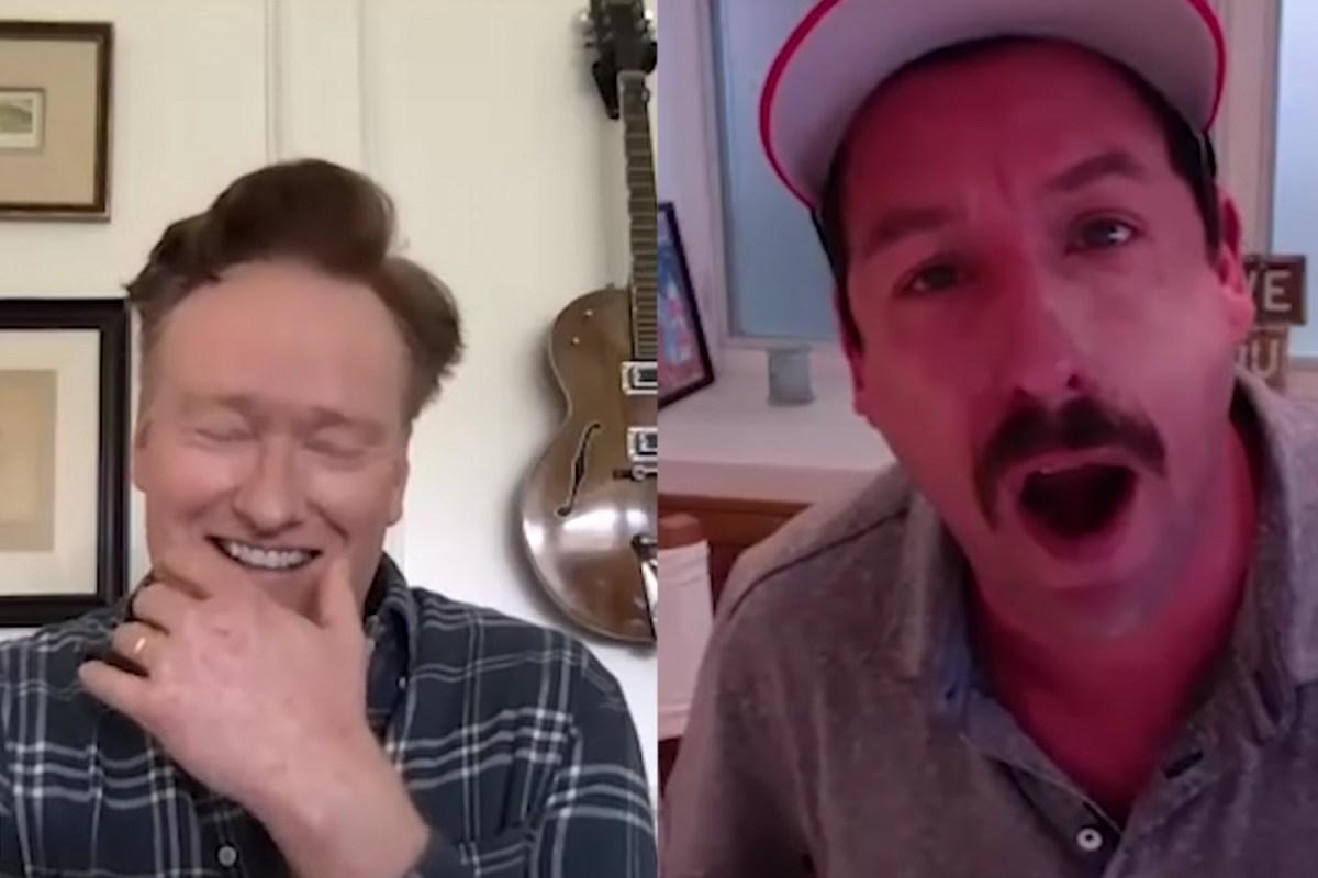 Conan O'Brien and Adam Sandler