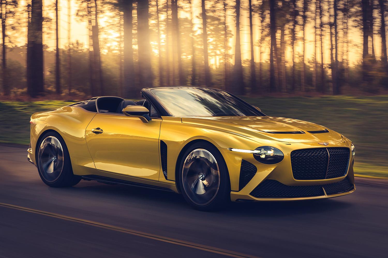 Yellow custom Bentley