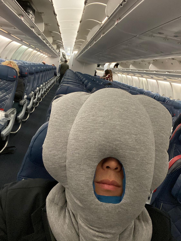 Empty Delta flight to Italy
