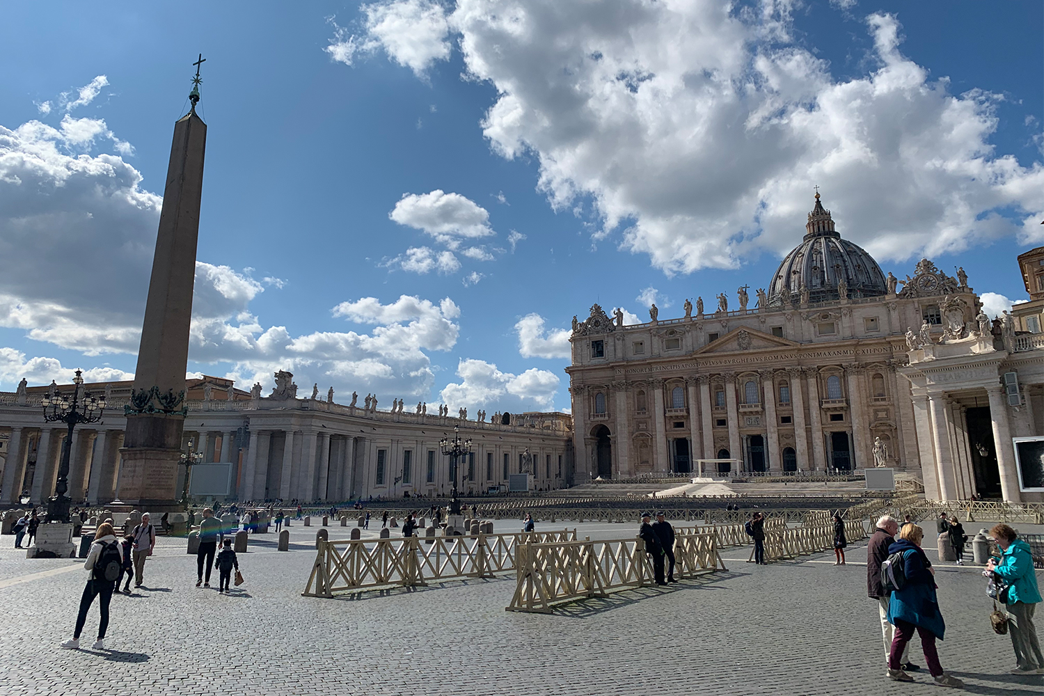 Empty courtyard at the Vatican