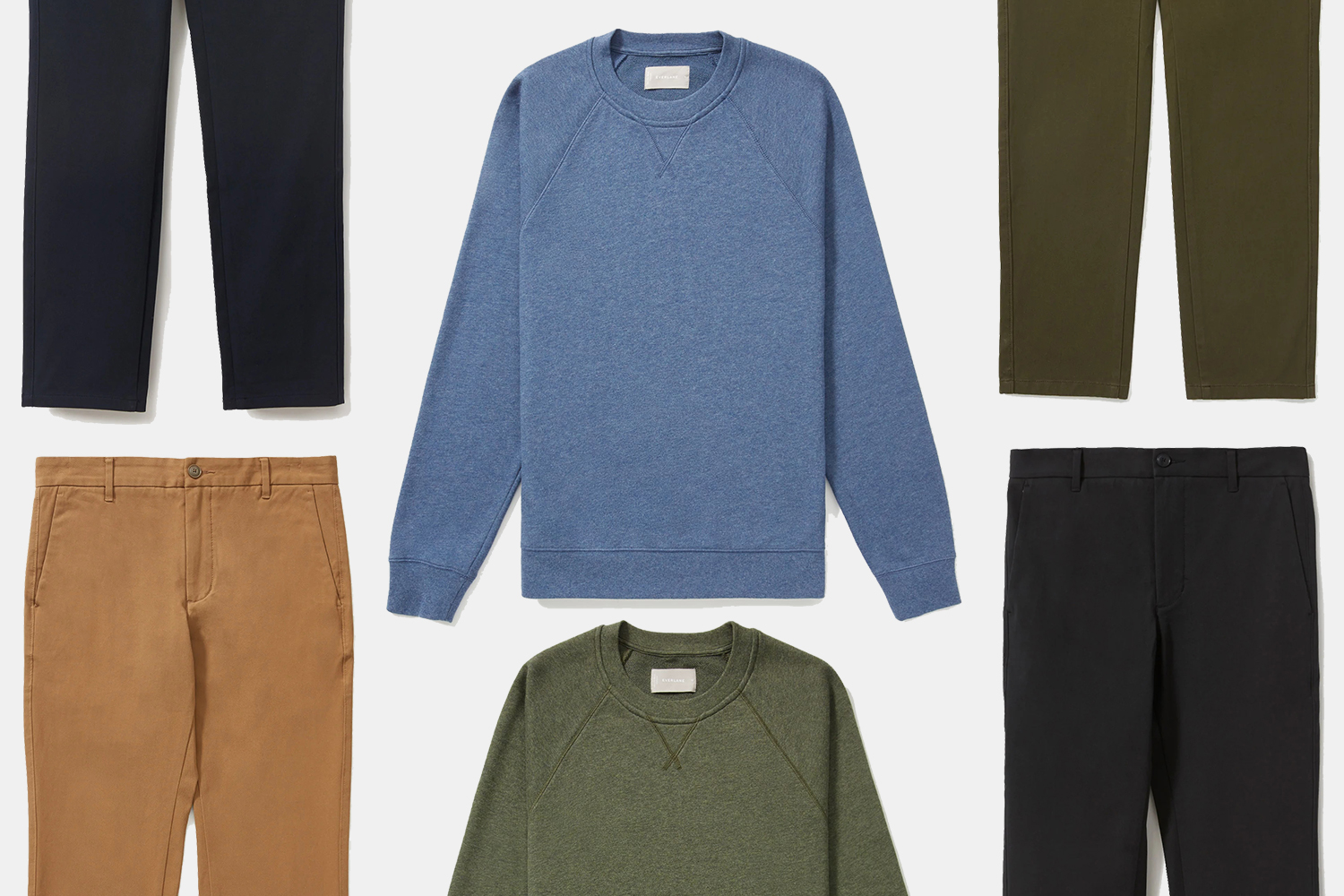 Everlane men's sweaters and chinos