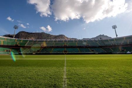 Empty stadium in Italy