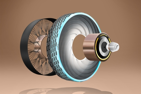 Diagram of Goodyear's reCharge concept car tires
