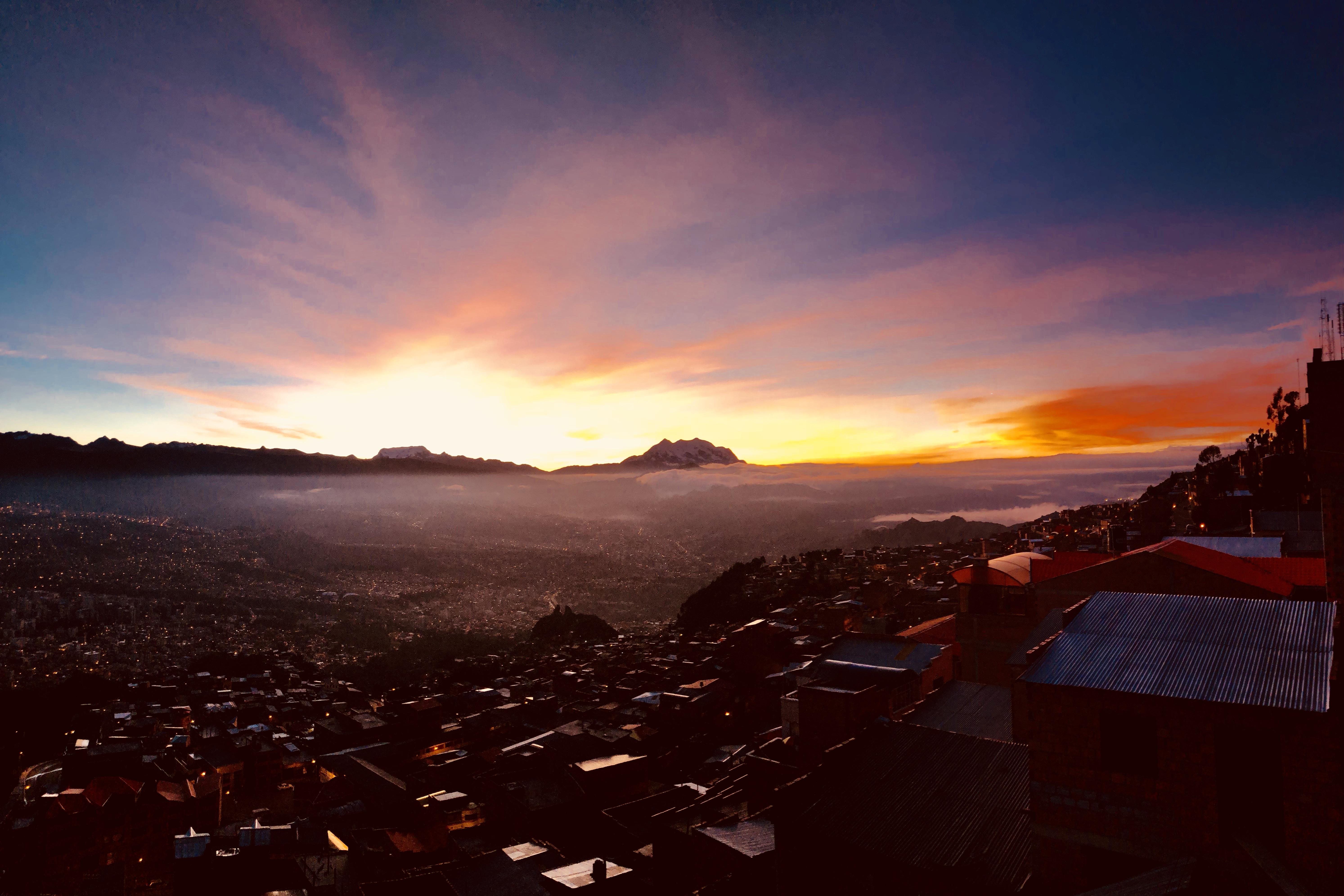 Sunrise over La Paz, Bolivia taken by Nick Butter