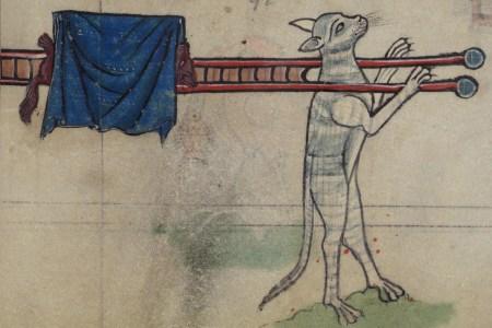 Illustrated car in medieval manuscript