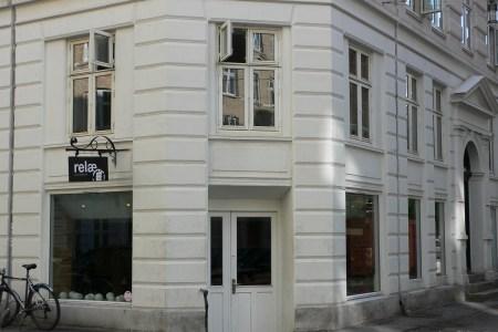 Restaurant front door in Copenhagen, Denmark