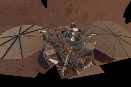 NASA InSight Lander on the surface of Mars