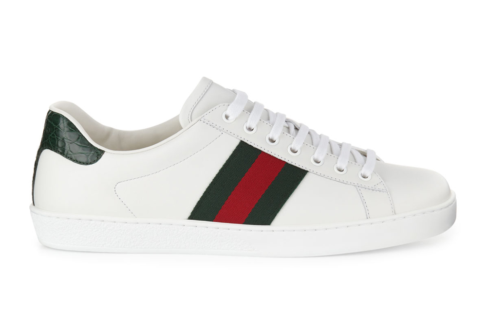 New Ace Leather Low-Top Sneakers Gucci