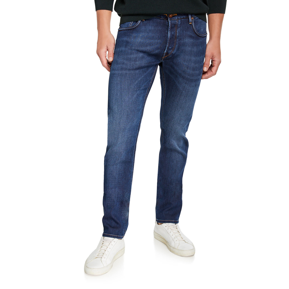 Honeycomb Slim-Fit Jeans Hand Picked