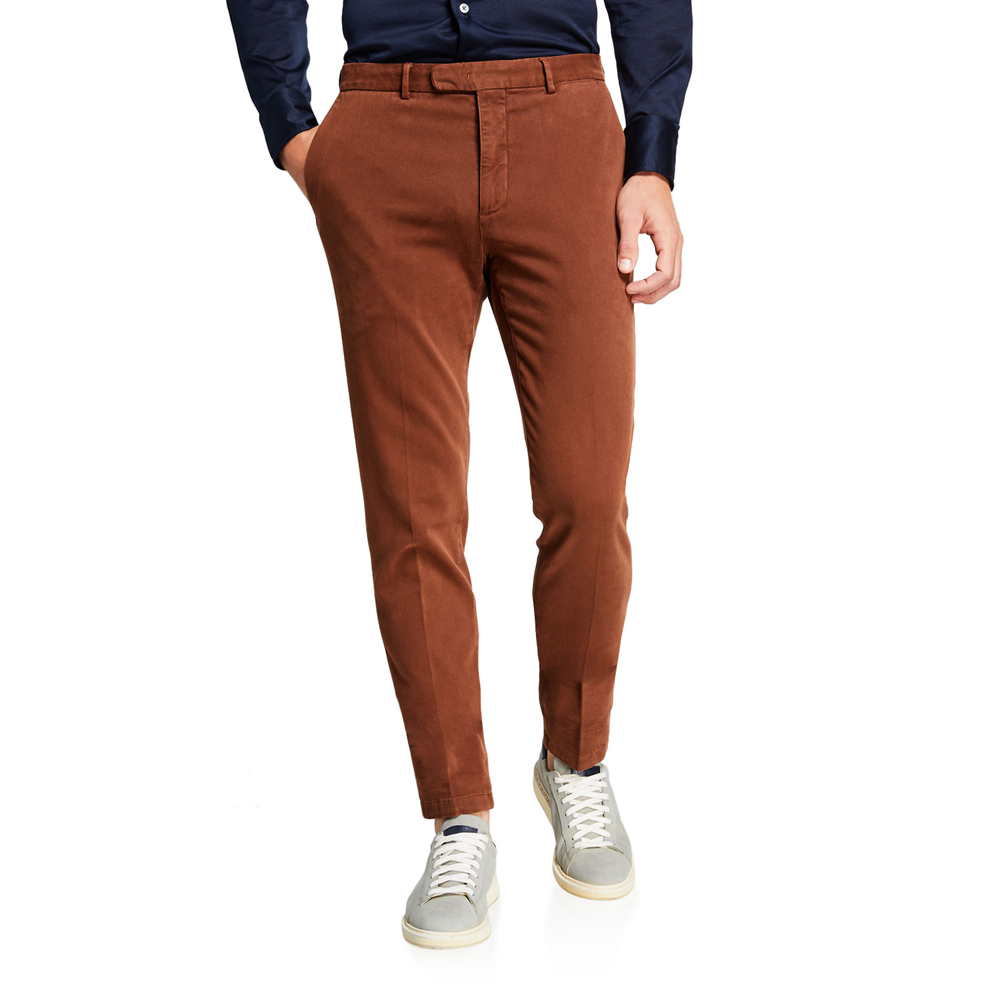 Slim-Fit Stretch-Cotton Trousers Boglioli