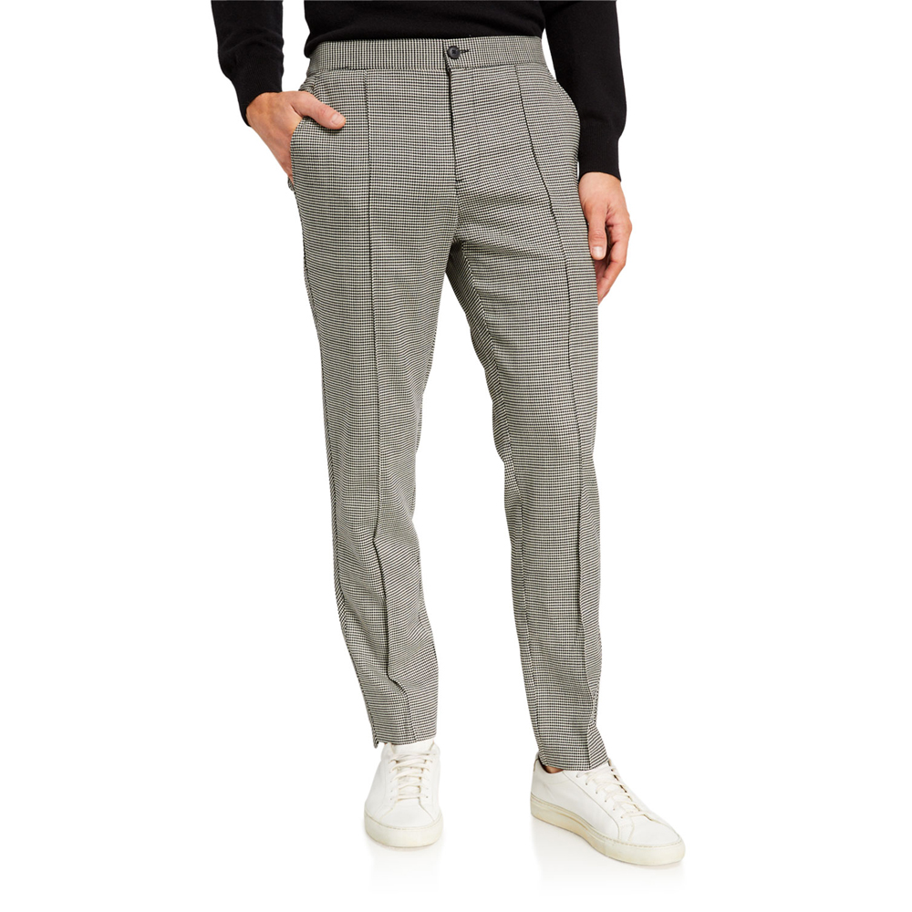 Pleated Wool Houndstooth Pants Ovadia