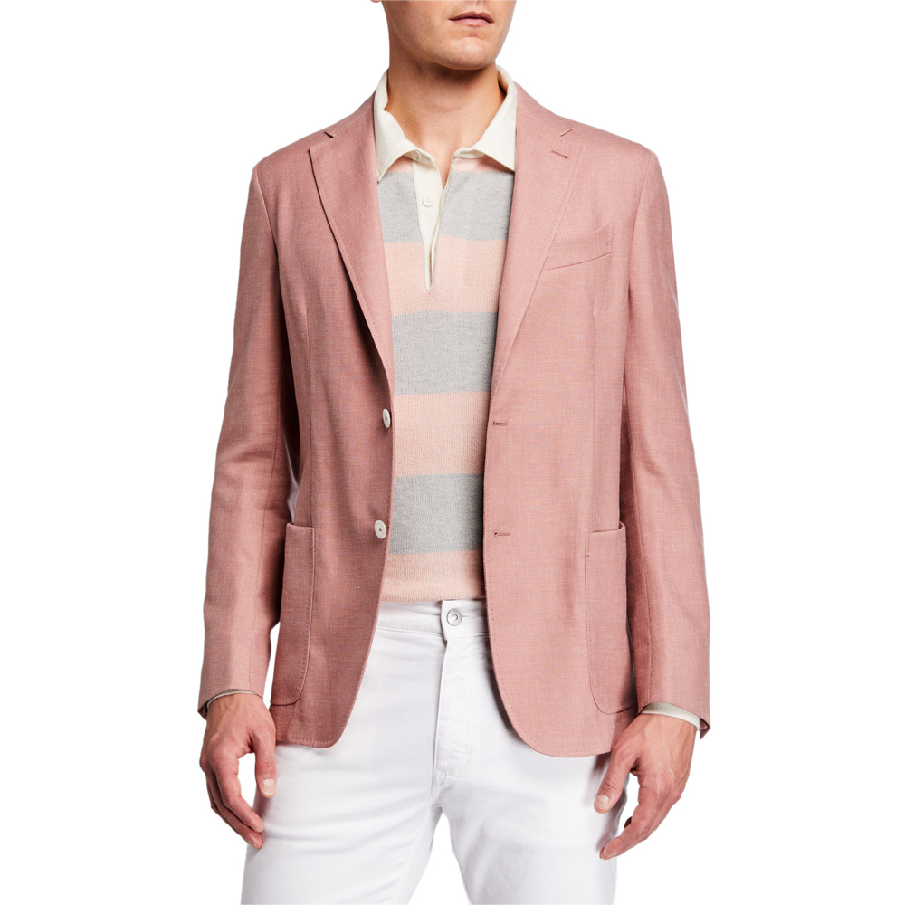 Solid Wool-Blend Blazer Ermenegildo Zegna