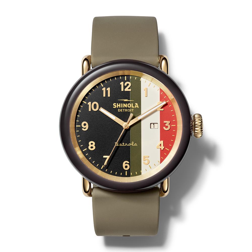 The Burnout 43mm Silicone Watch Shinola