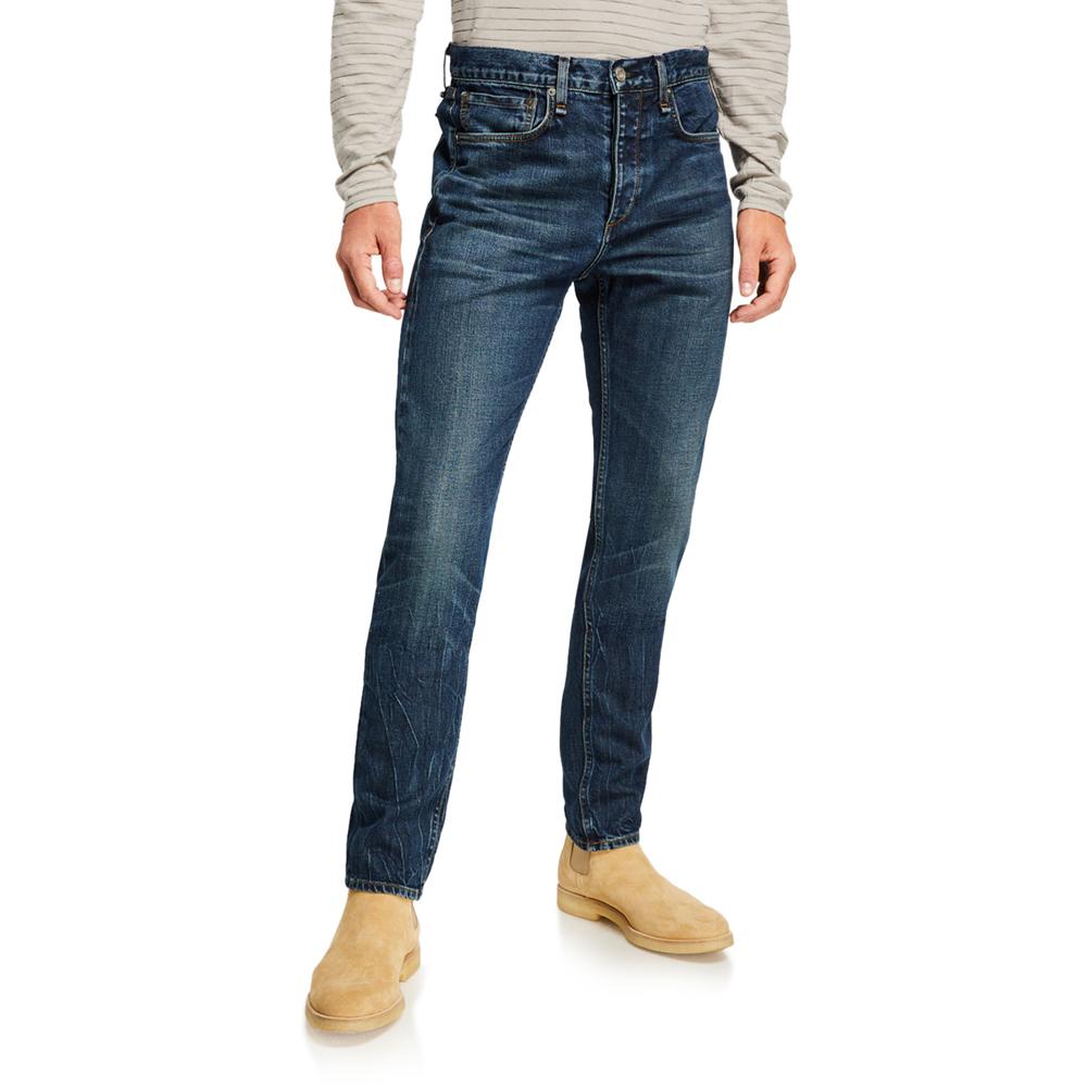 Slim High-Rise Medium-Wash Jeans Rag & Bone