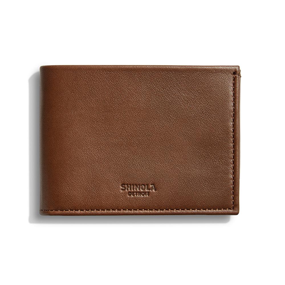 Slim Heritage Leather Bifold Wallet Shinola