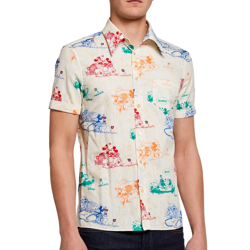 Gucci x Disney Mickey Mouse Print Shirt Gucci