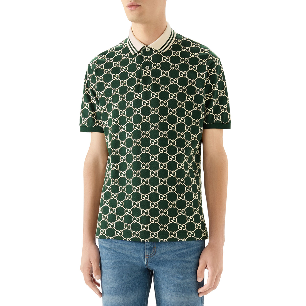 Interlocking GG Pique Polo Shirt Gucci