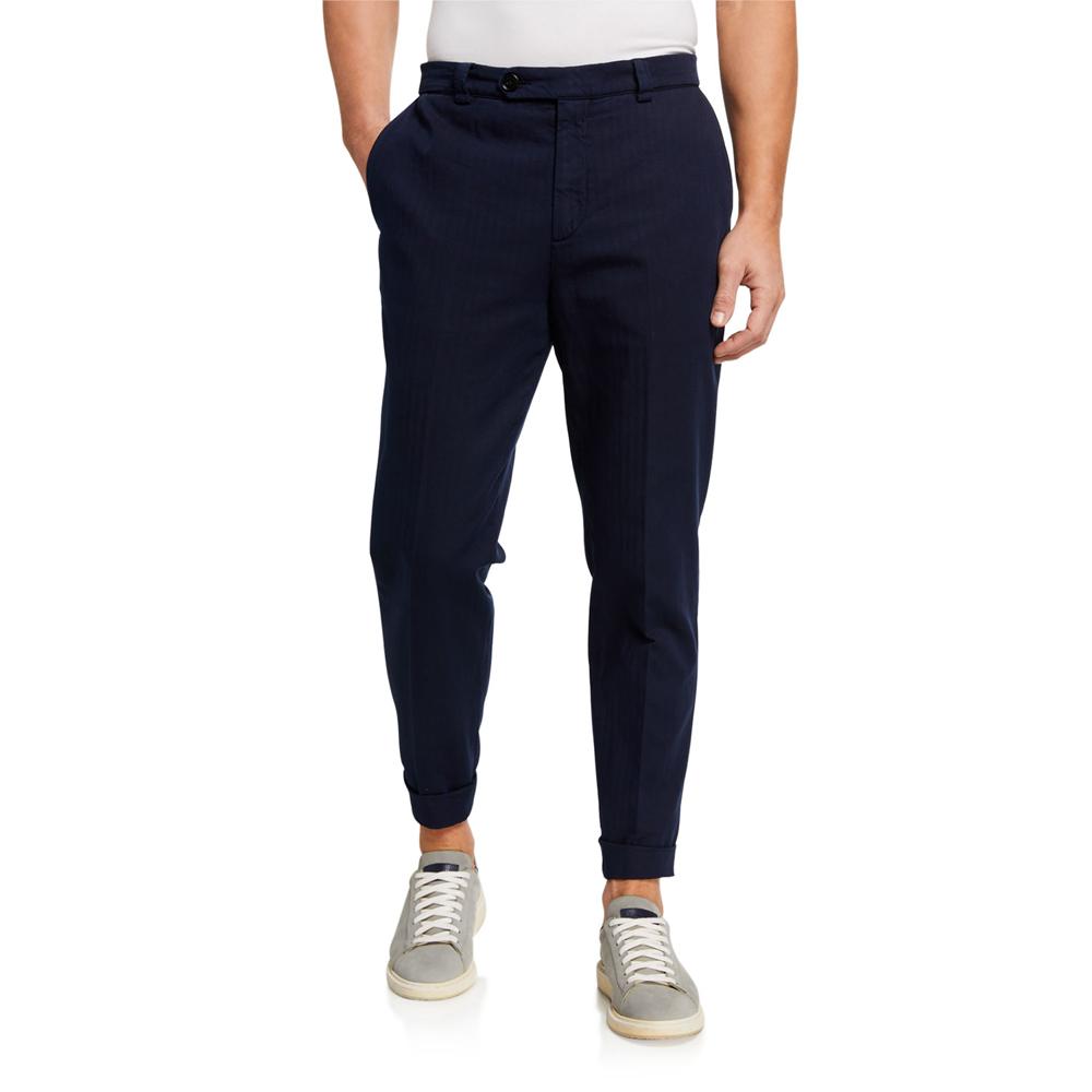 Straight-Leg Twill Pants Brunello Cucinelli