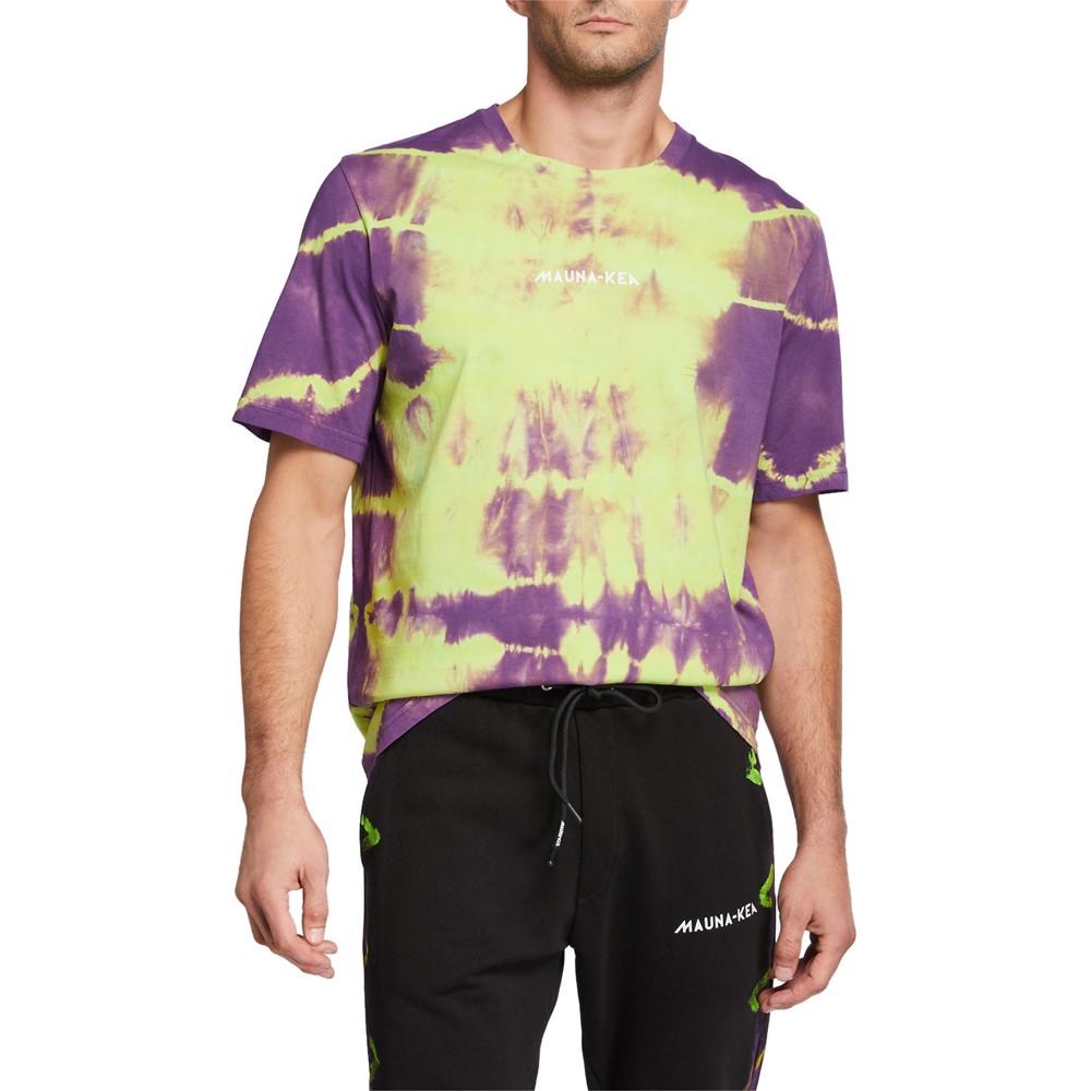Tie-Dye Crewneck T-Shirt Mauna Kea